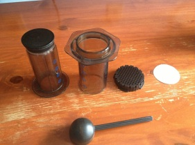 The parts of the Aeropress