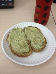 Homemade bread and avocado