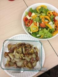 Bauern Fruestueck and a salad