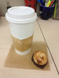 Friday treat - Latte and coconut macroon