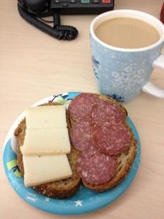 Typical German breakfast