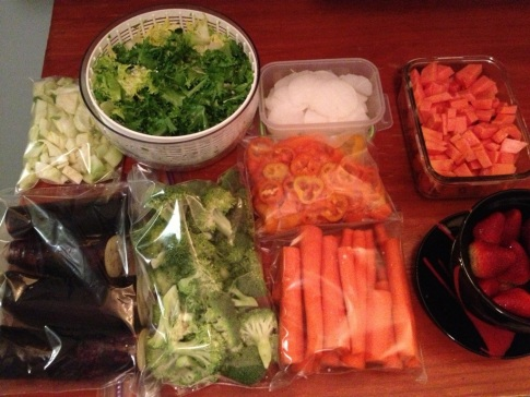 Food prep for the coming week
