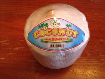 Here comes the coconut ...